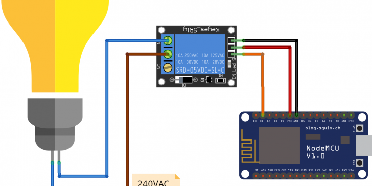 ESP8266 NodeMCU – Turn ON/OFF a Light Bulb – Geekering